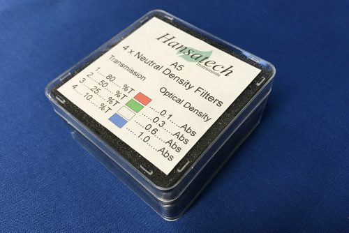 Neutral Density Filters (A5) | Hansatech Instruments | Oxygen electrode and chlorophyll fluorescence measurement systems for cellular respiration and photosynthesis research