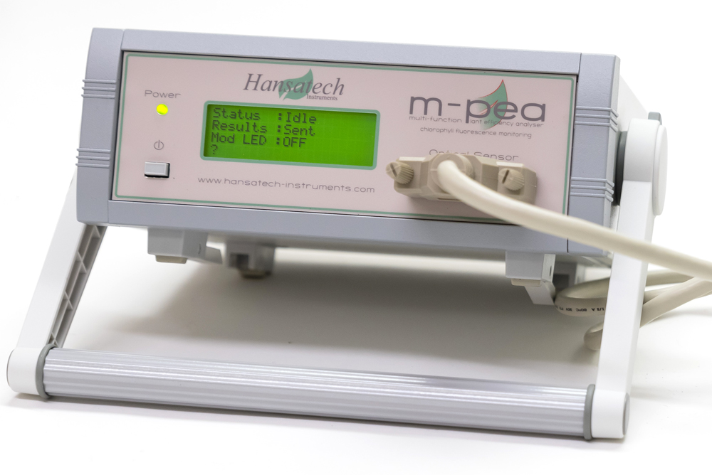 M-PEA Multi-Function Plant Efficiency Analyser | Hansatech Instruments | Oxygen electrode and chlorophyll fluorescence measurement systems for cellular respiration and photosynthesis research