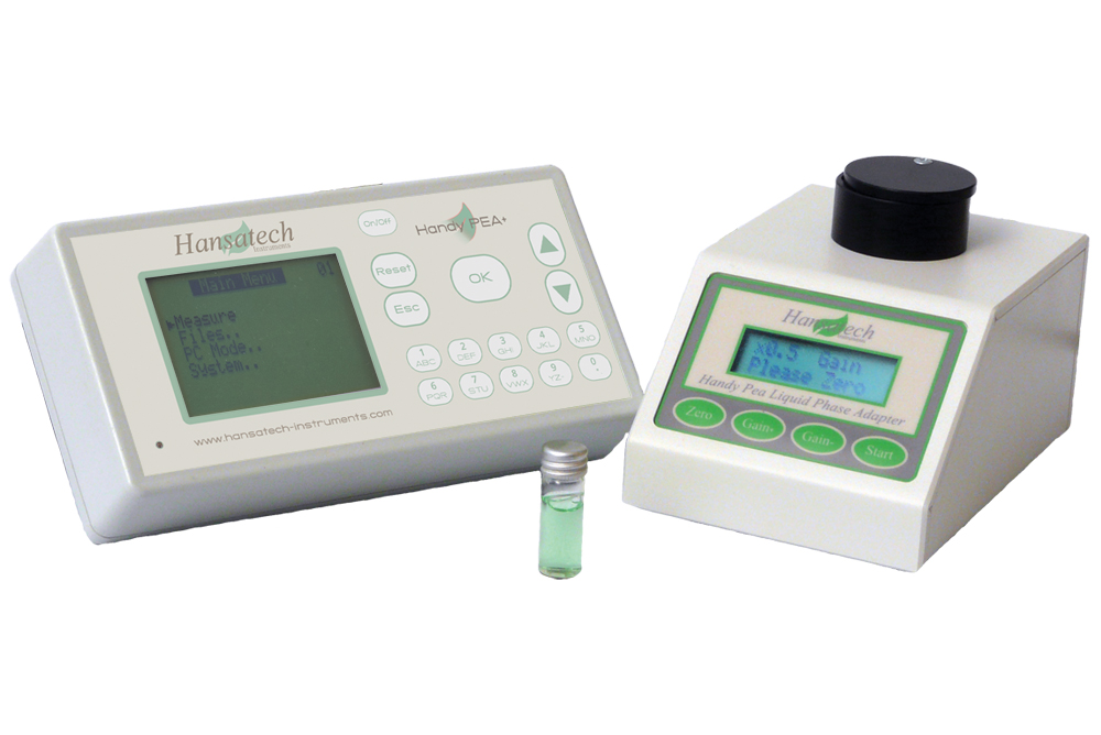 HPEA/LPA2 Liquid-phase adapter for Handy PEA+ Continuous Excitation Chlorophyl Fluorimeter | Hansatech Instruments | Oxygen electrode and chlorophyll fluorescence measurement systems for cellular respiration and photosynthesis research
