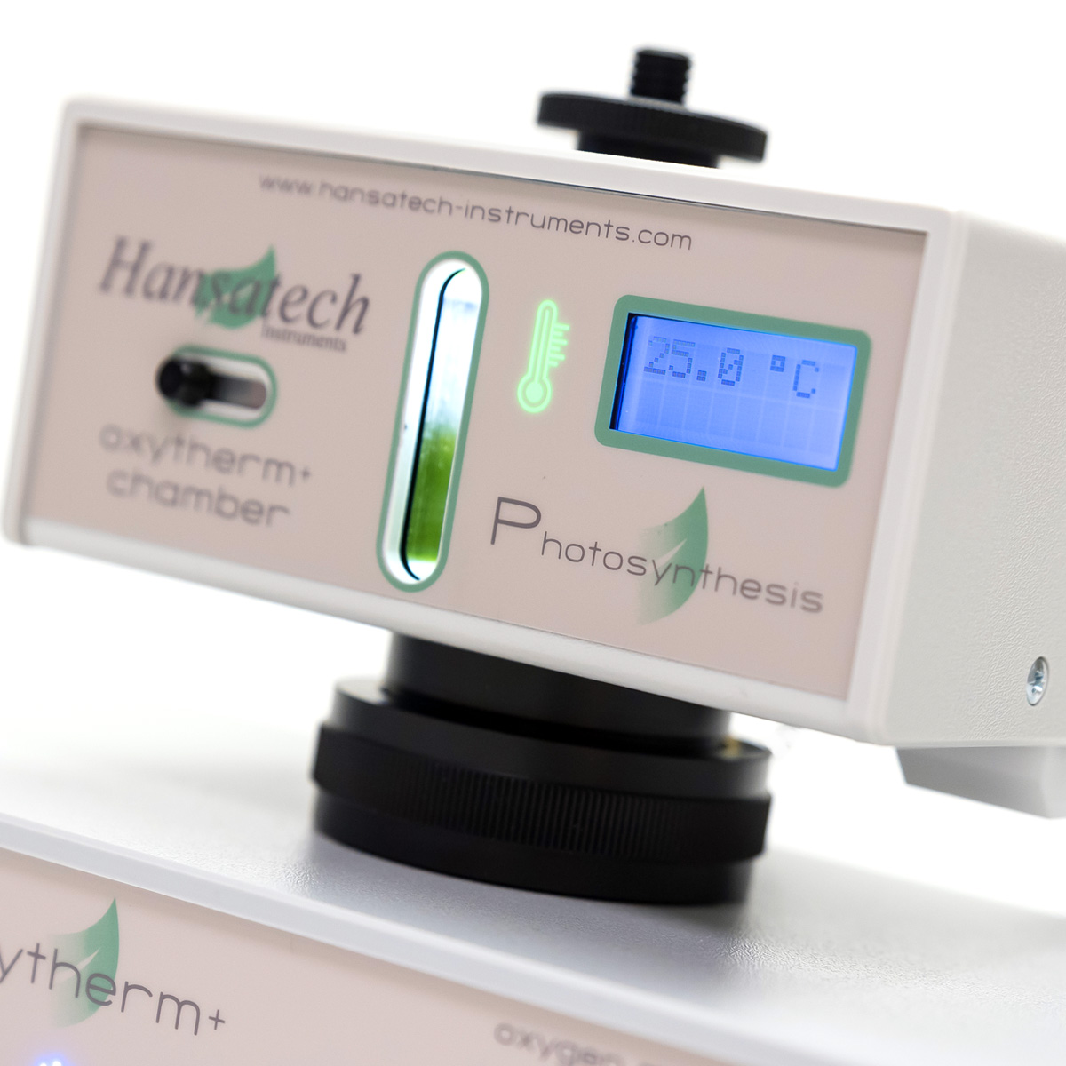 Oxytherm+ Photosynthesis Electrode Chamber | Hansatech Instruments | Oxygen electrode and chlorophyll fluorescence measurement systems for cellular respiration and photosynthesis research