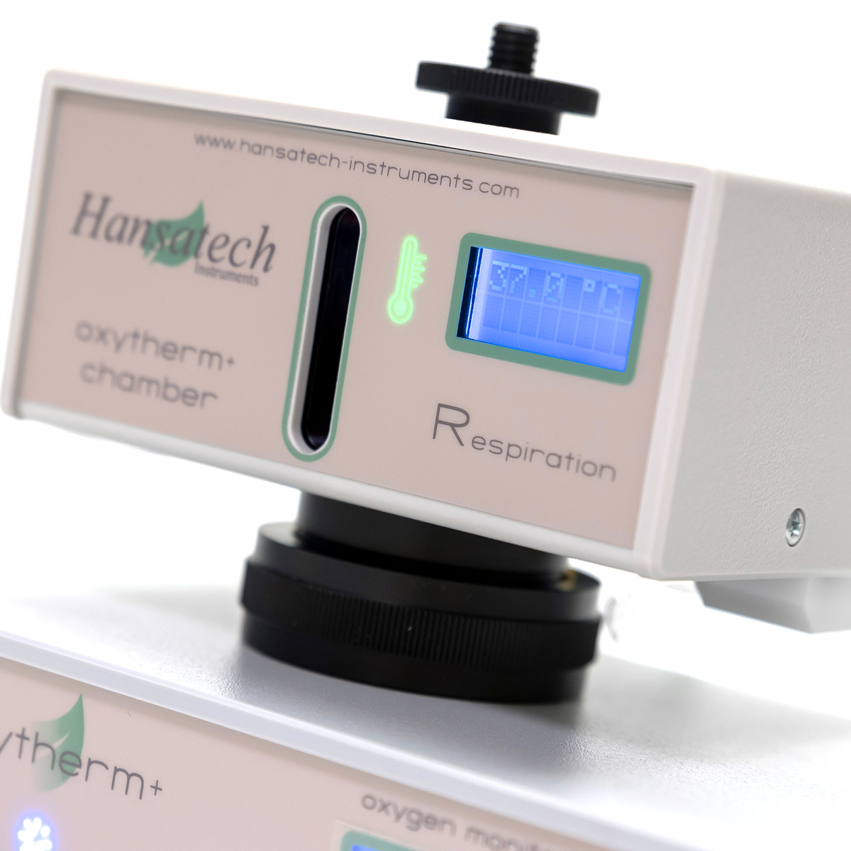 Oxytherm+ Respiration Electrode Chamber | Hansatech Instruments | Oxygen electrode and chlorophyll fluorescence measurement systems for cellular respiration and photosynthesis research